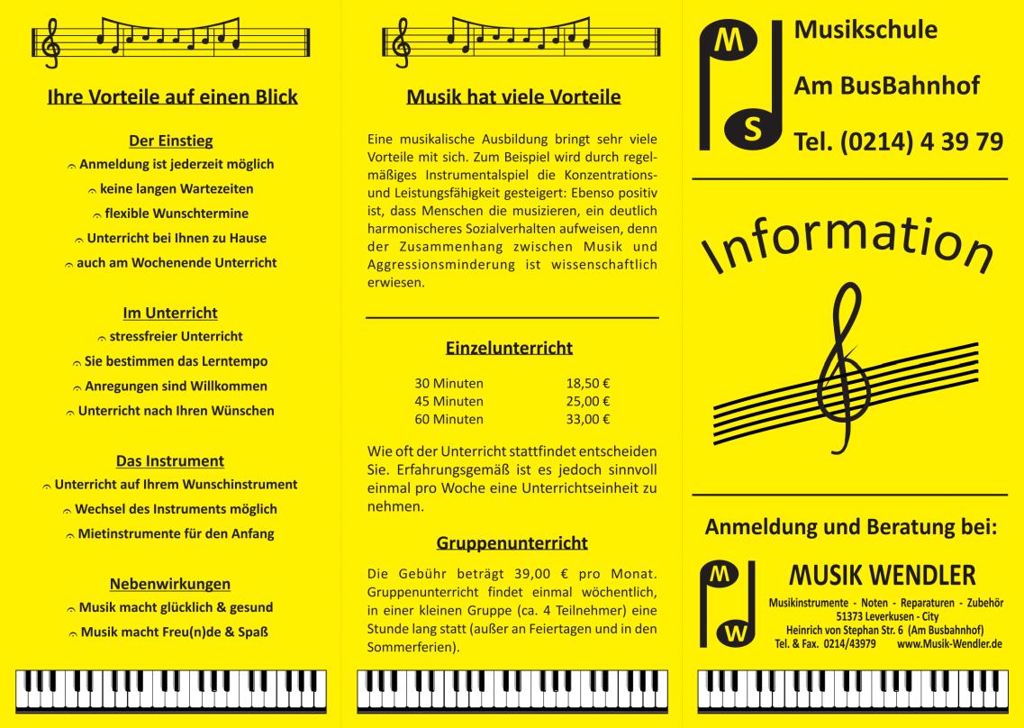 Musikhaus Wendler Flyer